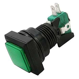 Кнопка GMSI-5B-S no(nc)+nc(no)green