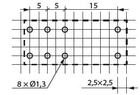 Разметка отверстий под PCB монтаж реле MER2